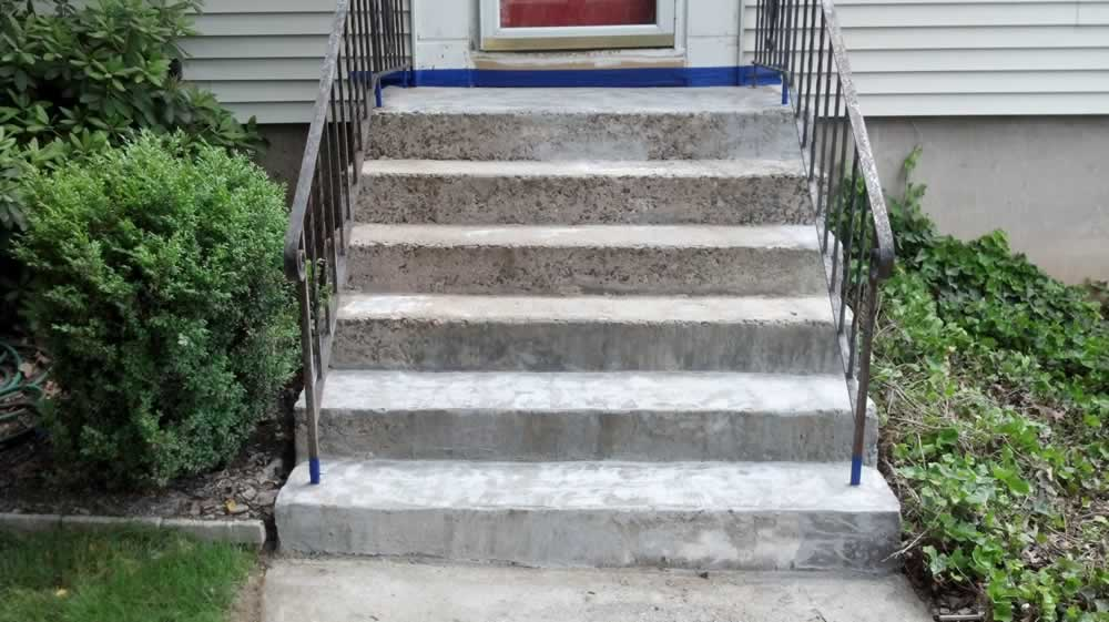 Cheshire Front Steps and Walkway Concrete Repaired