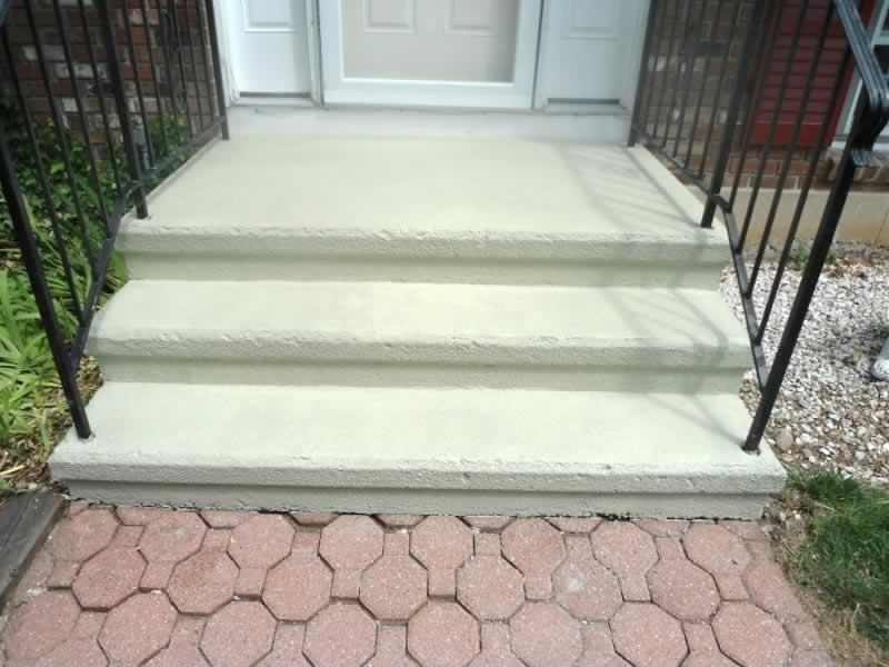 Front Steps Roller Rock Ivory