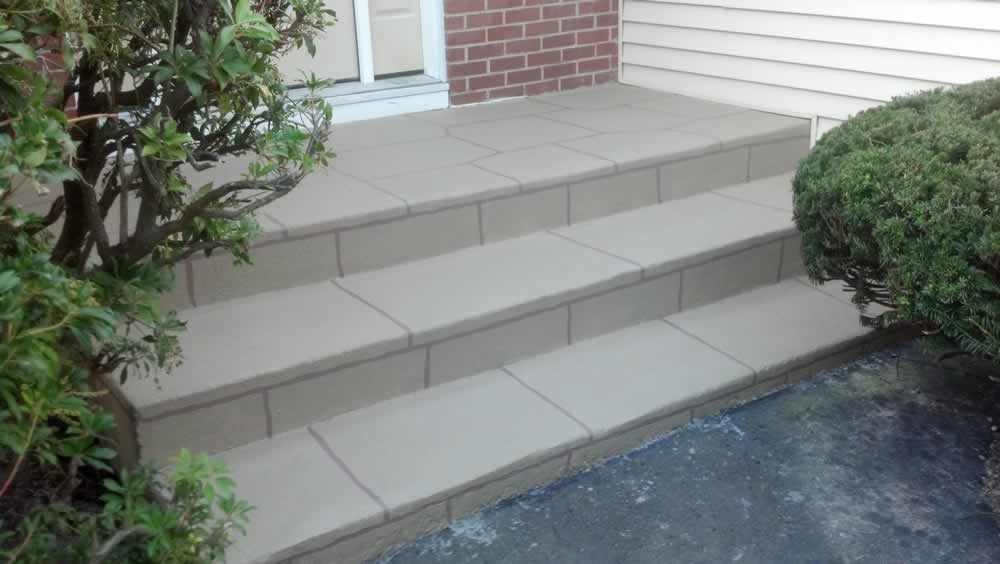 Milford Painted Front Steps RR Coriandor
