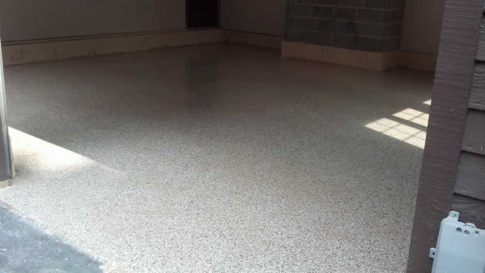 Prospect Garage Floor After Flake Epoxy 1