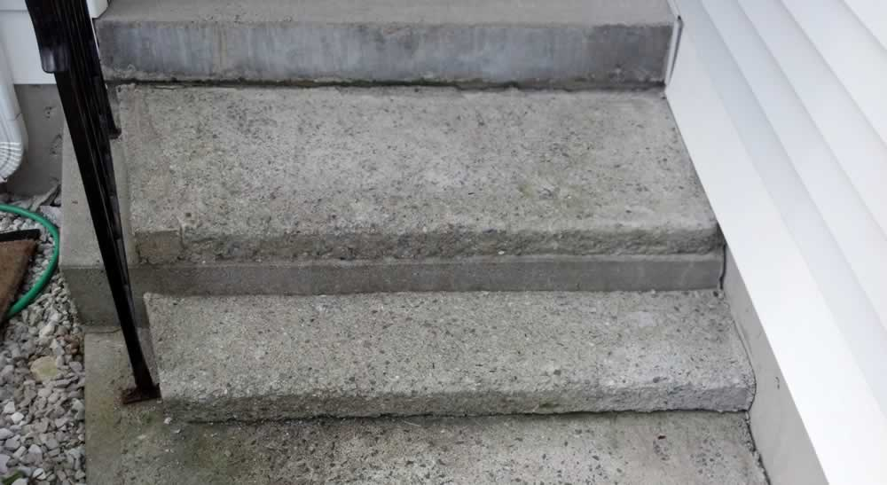 Salt Damaged Steps Before
