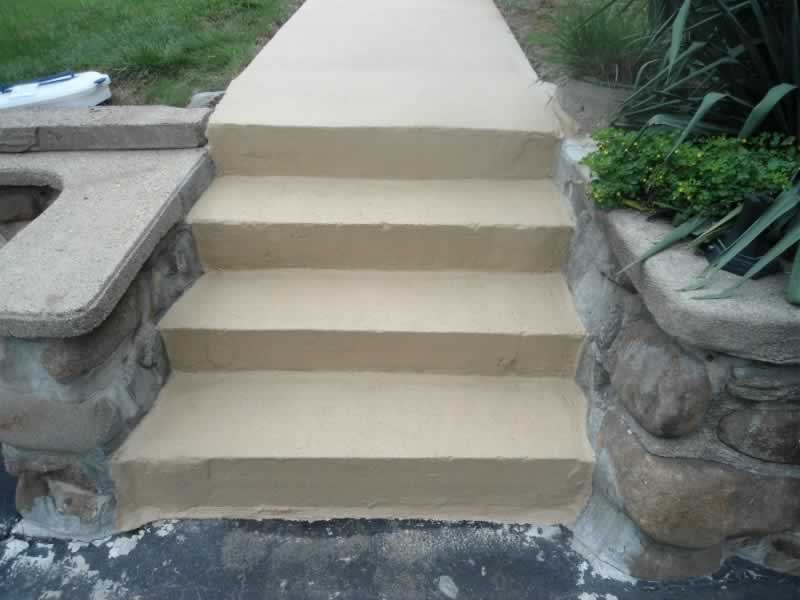 Walkway & Steps After RR Harvest Tan