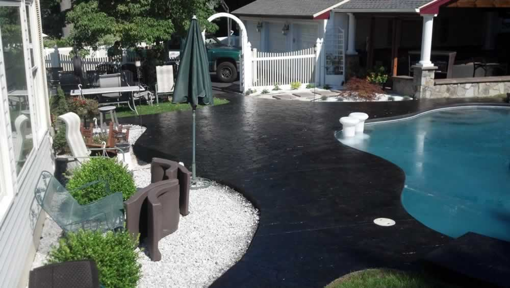 Stained Pool Deck After