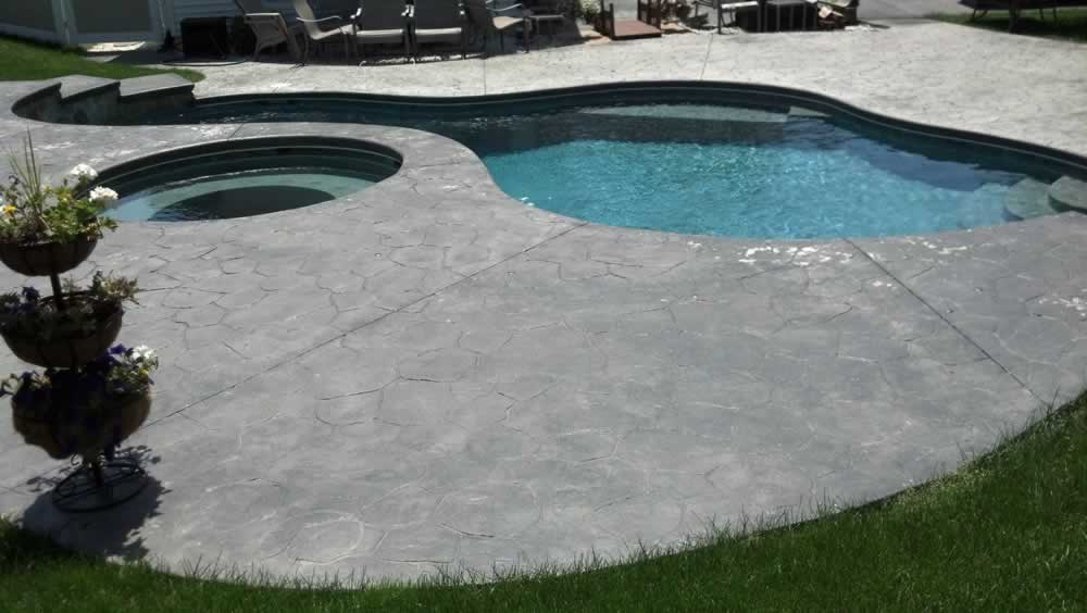 Stained Pool Deck Before