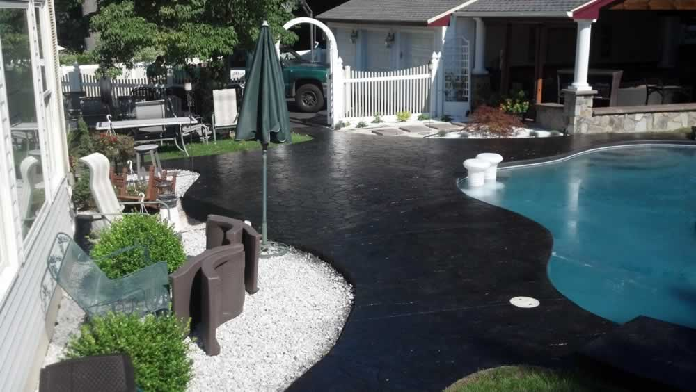 Stamped Pood Deck After Color Washing Amp Sealing Liquid Stone Finishes
