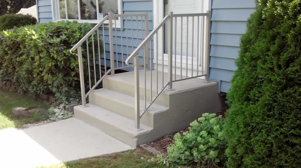 Wallingford Walkway & Steps NEW RAILING Solid RR Olive Gray