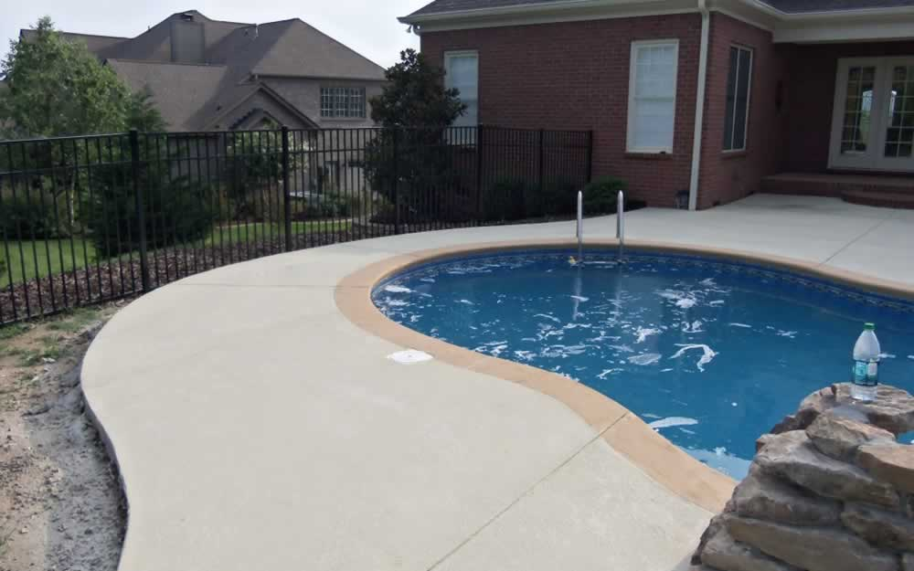 Pool Deck: Sprayed Concrete Overlay
