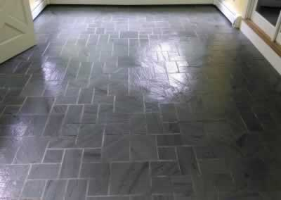 Bluestone Floor Sealed
