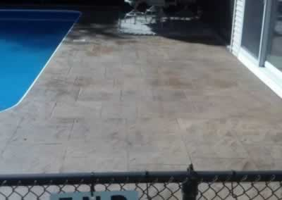 Cheshire Color Stained Pool Deck After 2