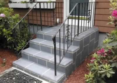 Cheshire Front Steps After Troweled Out Color Cool Gray