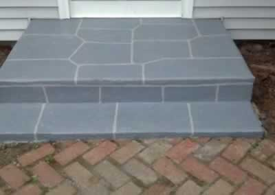 Cheshire Front Steps Aftter SS Troweled Cool Gray