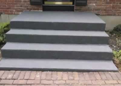 Cheshire Front Steps Rolled Out Color Gunite