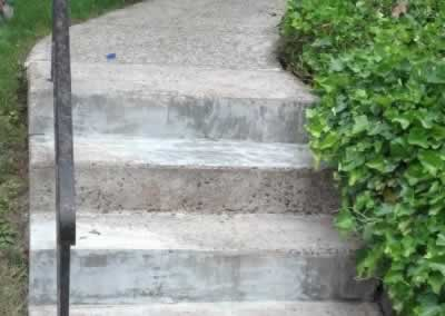 Front Steps and Walkway Concrete Repaired