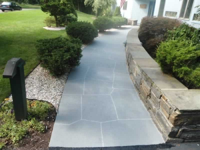 Cheshire Front Stoop Amp Walkway After Lava Rock Liquid Stone Finishes