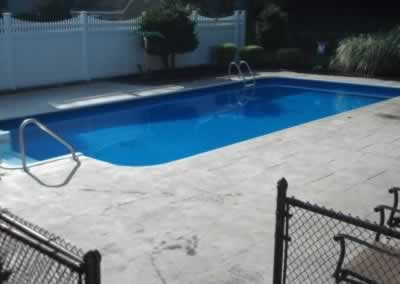 Cheshire Stained Concrete Pool Deck Before 1