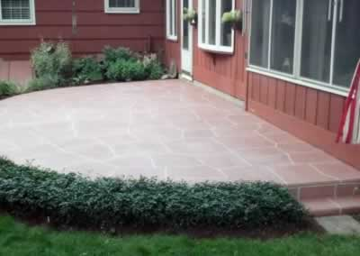 E. Gramby Rear Patio Trowled Out Color Chestnut