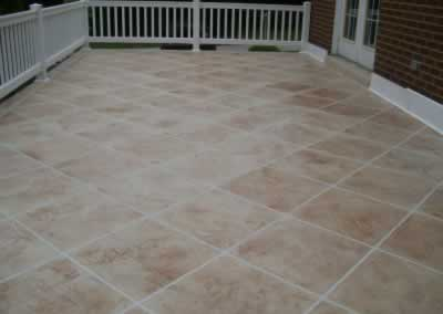 Exterior Troweled Down Patio