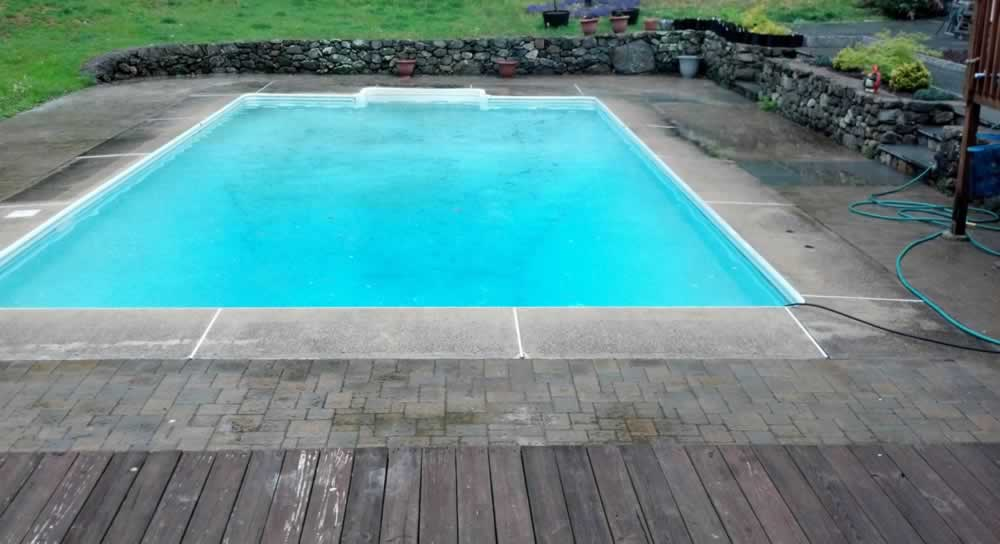 Middlebury Pool Deck Before