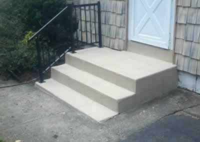 Orange 3 Steps & New Railings After Trowled SS Ivory 2