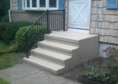 Orange 3 Steps & New Railings After Trowled SS Ivory 3