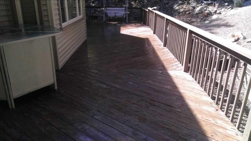 Deck Overlay Before