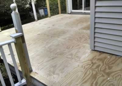 Deck After Putting Down Plywood