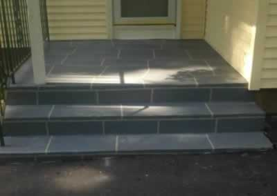 Prospect Front Steps Troweled Out Color Gunite