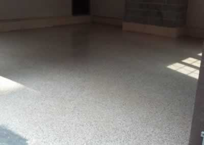Garage Floor After Flake Epoxy
