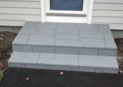 2 Sets of Steps Troweled Out Color Cool Gray