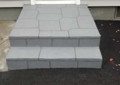W. Haven 2 Sets of Steps Troweled Out Color Cool Gray