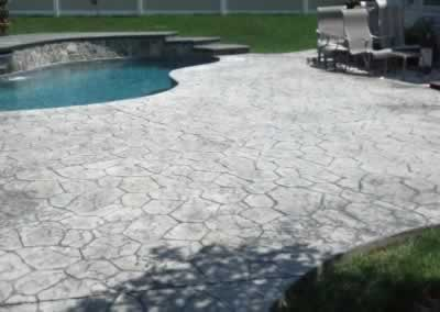 Wallingford Stained Pool Deck Before 2