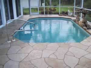 Pool Deck: Troweled Concrete Overlay